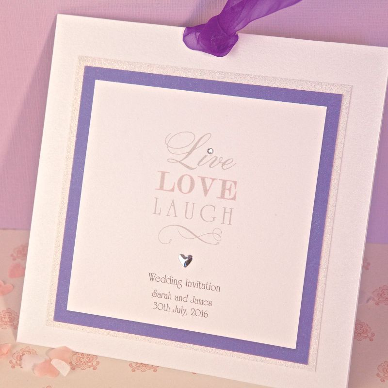 Live, Laugh, Love Day Invite | Luxury Handmade Wedding Invitations