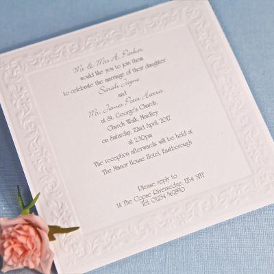 Superior Romance Wedding Day Invitation