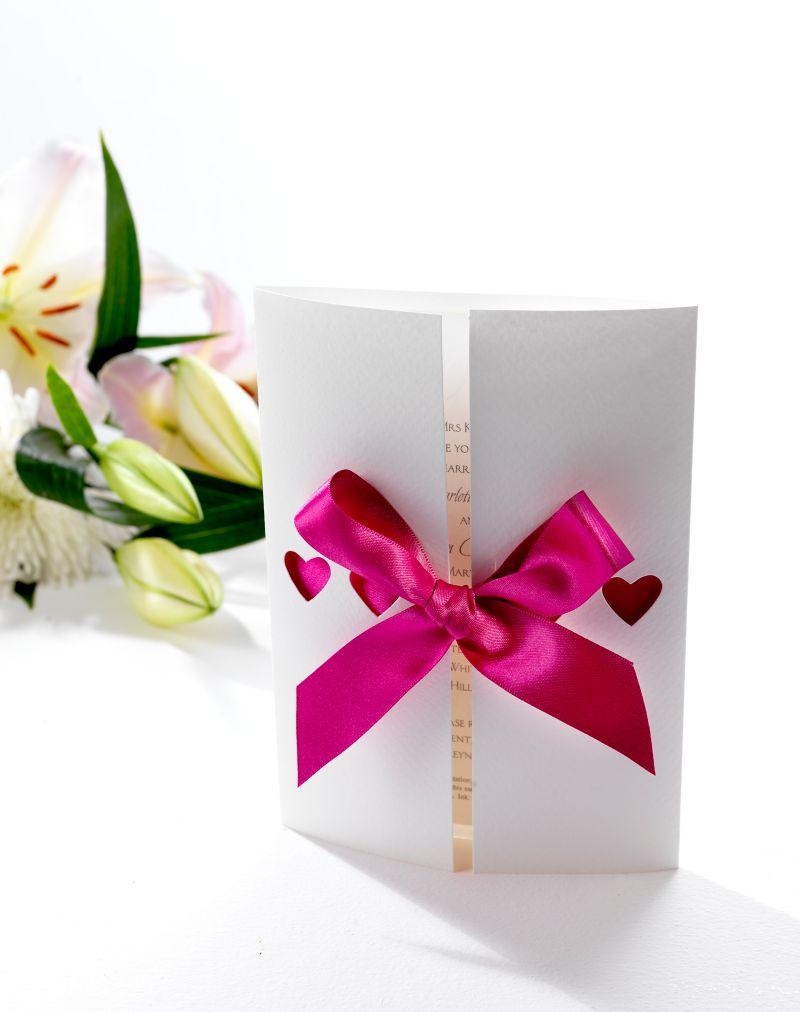 Ribbons Day Invitation   Wedding Invitations