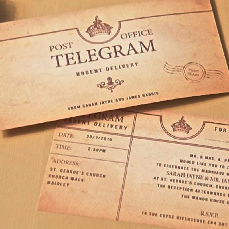 Telegram Wedding Day Invitation