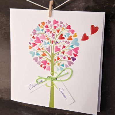 Vibrant Tree Wedding Day Invitation